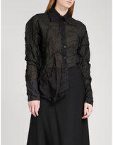 Yang Li Tinbalo crushed silk-blend shirt