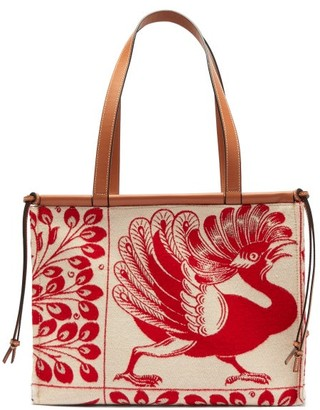 Loewe Cushion Dodo-jacquard Tote Bag - Womens - Red Multi