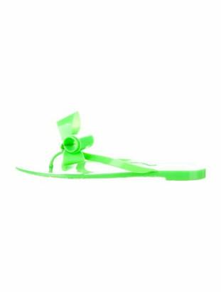 Valentino Rubber Slide Sandals Neon