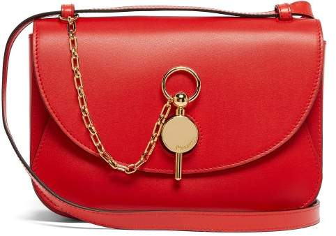 J.W.Anderson Keyts Leather Cross Body Bag - Womens - Red