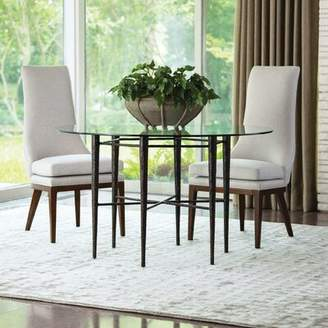 """Global Views Hammered Extendable Dining Table Size: 28.25"""" H x 48"""" L x 48"""" W"""