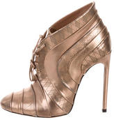 Alaia Metallic Leather Booties w/ Tags