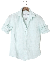 Frank And Eileen Womens Barry Stripe Linen Shirt