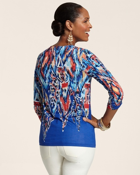 Chico's Geo Blends Patricia Top