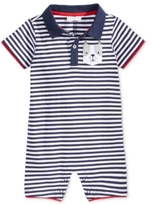 First Impressions Striped Dog-Pocket Cotton Romper, Baby Boys (0-24 months)
