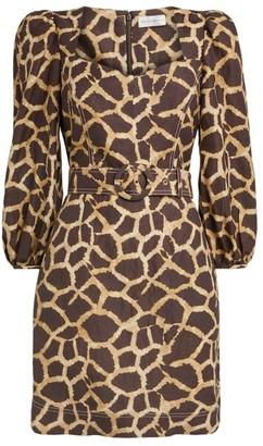 Rebecca Vallance Acacia Giraffe Mini Dress