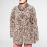 Paul Smith Women's Taupe Short Shearling-Sheepskin Coat