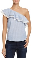 J.o.a. One Shoulder Stripe Top - 100% Bloomingdale's Exclusive