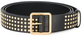 Alexander McQueen gold studded leather belt