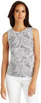 J.Mclaughlin Tania Sleeveless Top in Engraved Paisley