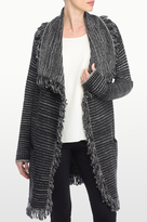 NYDJ Fringed Car Coat Sweater