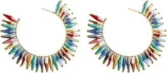 Panacea Crystal Fan Hoop Earrings