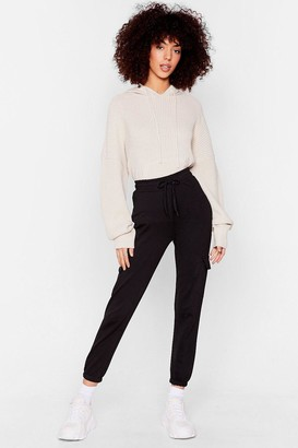 Nasty Gal Womens In Case You Didn't Cargo Relaxed Joggers - Black - S