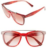 Valentino Women's 54Mm Cat Eye Sunglasses - Black Light/ Gold