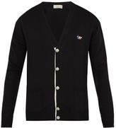 MAISON KITSUNÉ Fox-appliqué wool cardigan