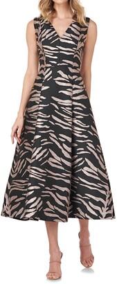 Kay Unger Tibby Zebra Cocktail Dress