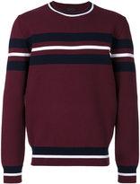 Diesel Black Gold striped panel jumper - men - Polyester/Viscose - S