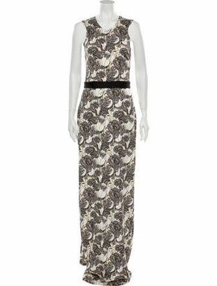 Just Cavalli Floral Print Long Dress w/ Tags Black