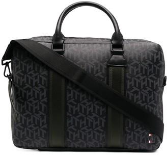 Tommy Hilfiger Monogram-Print Laptop Bag