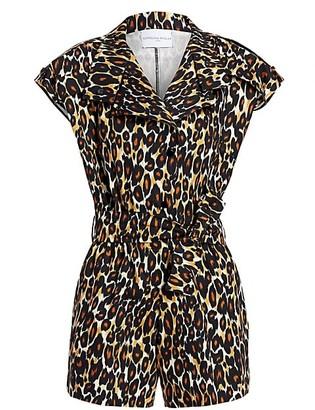 Carolina Ritzler Leopard Print Utility Romper