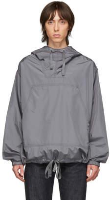 Beams Grey Hooded Pullover Jacket