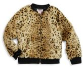 Design History Little Girl's Faux Fur Cheetah Jacket