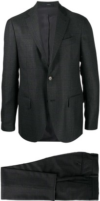 Lardini Checked Single Breasted Two-Piece Suit