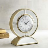 Pier 1 Imports Mirrored Round Desk Clock