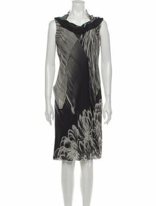 Rick Owens Printed Knee-Length Dress Grey