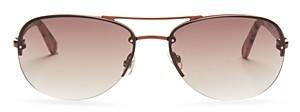 Kate Spade Women's Beryl Brow Bar Rimless Round Sunglasses, 59mm