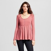 Xhilaration Women's Henley Babydoll Top Juniors')