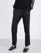 Clu Drawstring-waist relaxed-fit mid-rise silk trousers