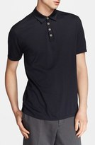 John Varvatos Men's Collection 'Hampton' Stripe Silk & Cotton Polo