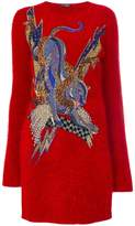 Balmain embroidered sweater dress