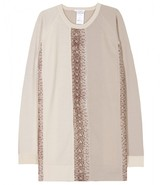 Chloé WOOL PULLOVER WITH SNAKE PRINT DETAILING