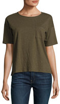 ATM Anthony Thomas Melillo Donegal Crewneck Pocket Speckled Jersey Tee