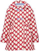 M&Co Minoti polka dot hooded jacket