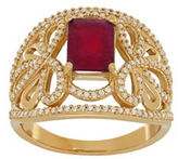 Lord & Taylor Ruby, Diamond and 14K Yellow Gold Ring