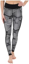 Zobha Fitted Printed Leggings w/ Mesh Side Panels