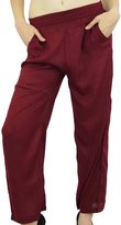 Bimba Women Long Pajama With Pockets Modal Cotton Night Pyjama Sleepwear