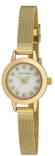 Laura Ashley Women's Mini Case Gold Tone Alloy Bracelet Watch 22mm