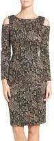 Eliza J Metallic Knit Sheath Dress (Regular & Petite)