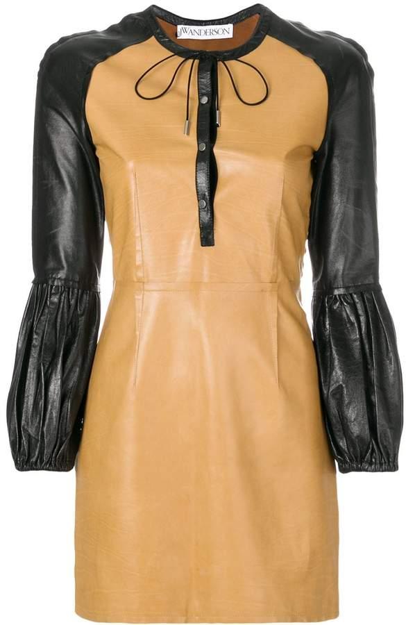 J.W.Anderson colour-block mini leather dress