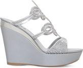Rene Caovilla Swarovski-embellished leather wedge sandals