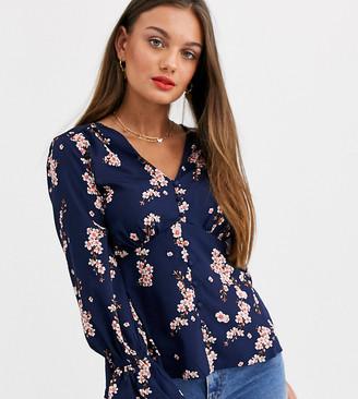 Vero Moda Petite floral button front blouse