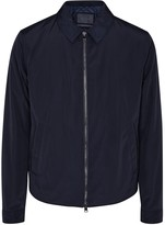 Pal Zileri Navy Leather-trimmed Jacket