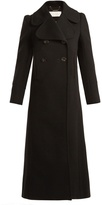 Chloé Oversized-lapel double-breasted wool-blend coat