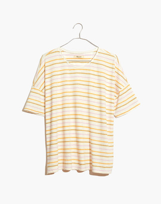 Madewell Raw-Edged Hangout Tee in Branham Stripe