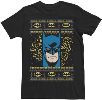 Dc Comics Men's Batman Pixel Knit Portrait Tee