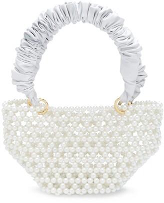 Tako pearl-embellishment tote bag